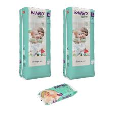 Set 2 pachete scutece Ecologice Bambo Nature Nr. 4 (7-14 kg), 96 bucati + CADOU șervețele umede BAMBO Nature, 50 buc.