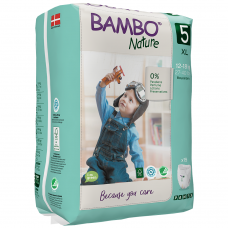 Chiloței Ecologici Bambo Nature Pants, Nr. 5 (12-18 kg),19 buc.