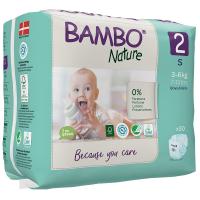 Scutece Ecologice pentru copii Bambo Nature Mini , Nr. 2 (3-6 kg), pachet 30 buc.
