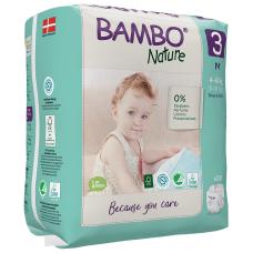Scutece Ecologice Bambo Nature Midi, Nr. 3 (4-8 kg), pachet 28 buc.