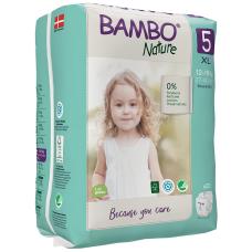 Scutece Ecologice pentru copii Bambo Nature Junior, Nr. 5 (12-18 kg), pachet 22 buc.