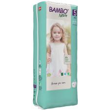Scutece Ecologice pentru copii Bambo Nature Junior, Nr. 5 (12-18 kg), pachet 44 buc.