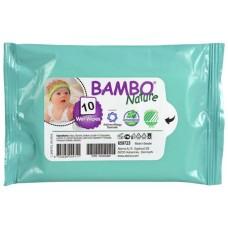 Șervețele umede Bambo Nature, 10 buc.